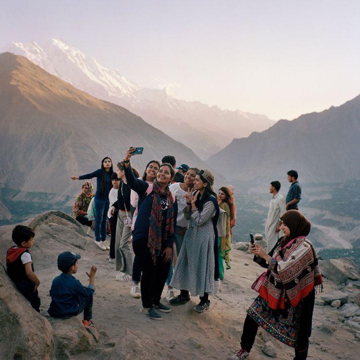 Turistas vindas de Carachi