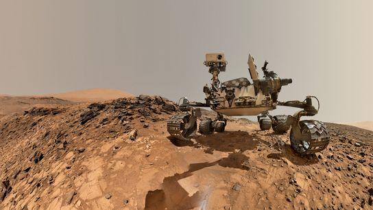 Selfie da sonda Curiosity da NASA.