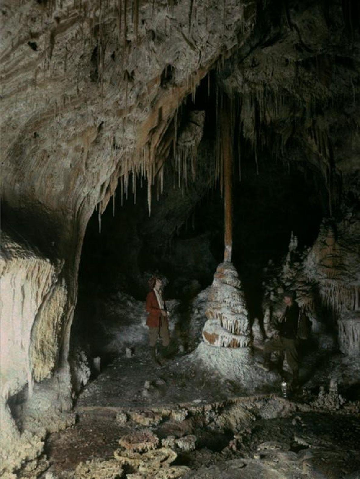 Sala da cúpula na Caverna de Carlsbad no Novo México