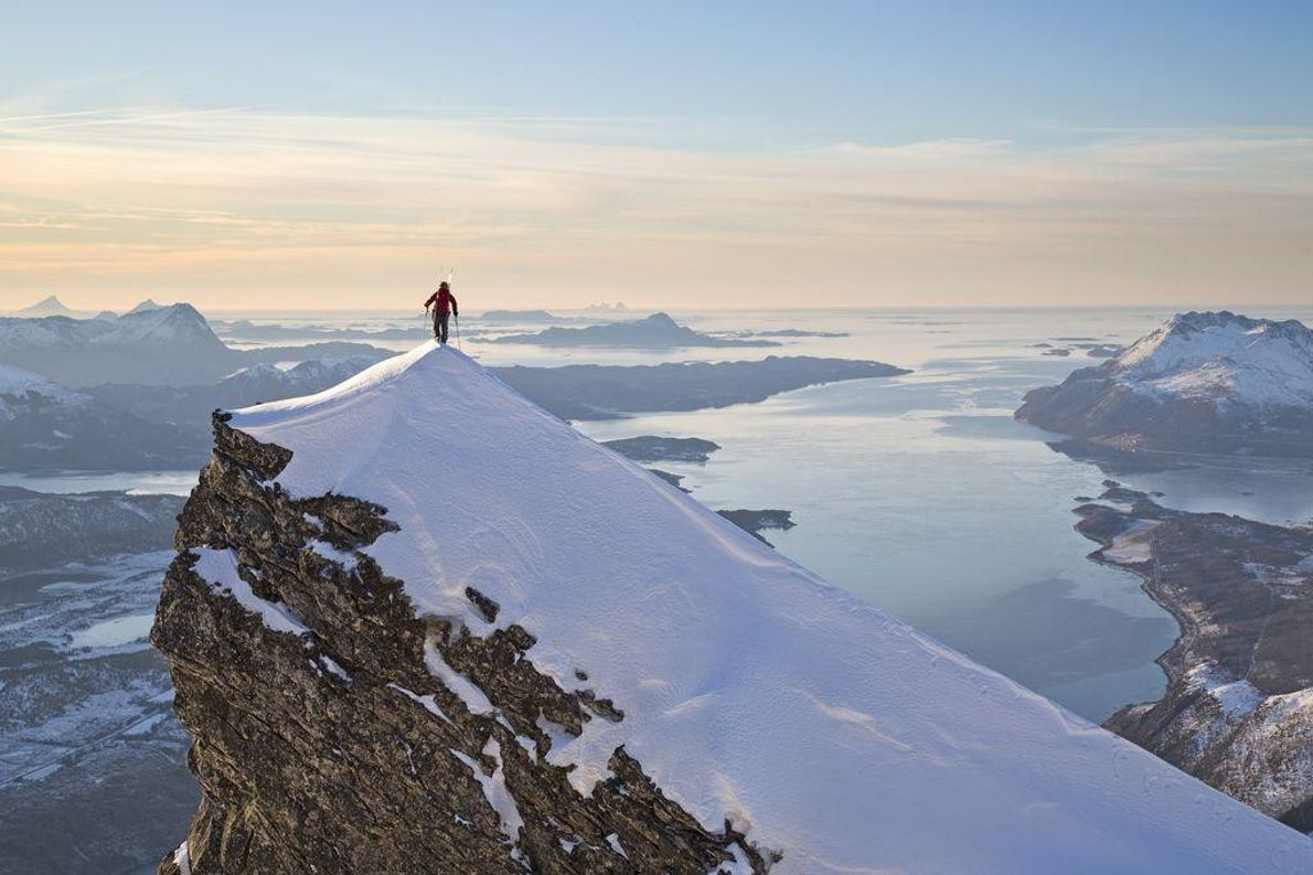 Escalada no Norte da Noruega