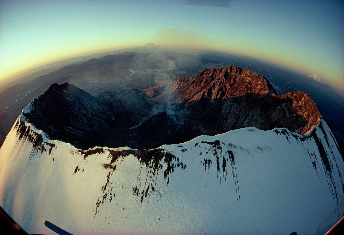 cratera do Monte Santa Helena em Washington