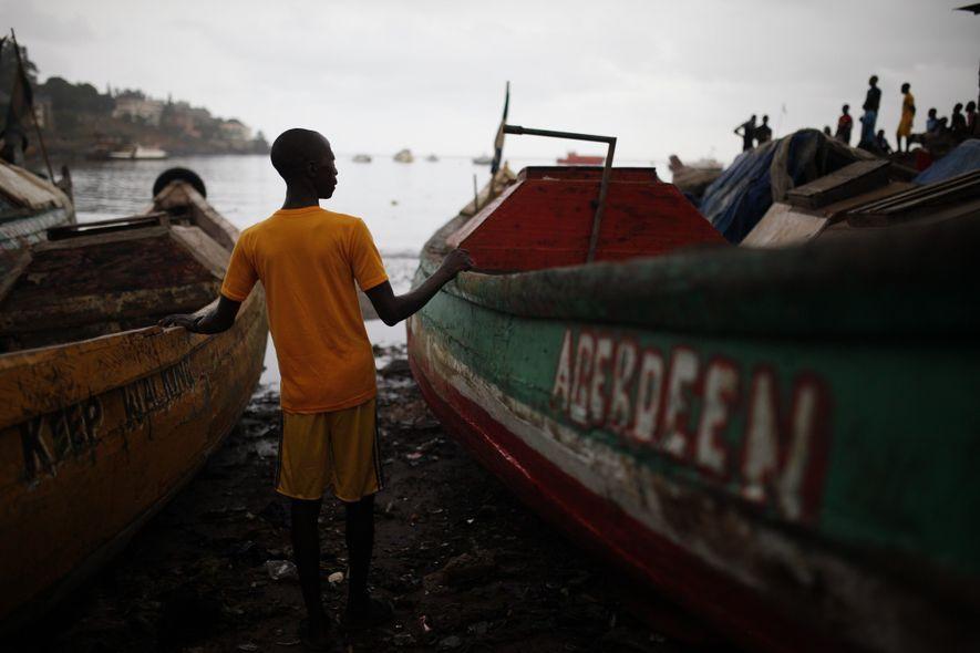 Pescador angolano
