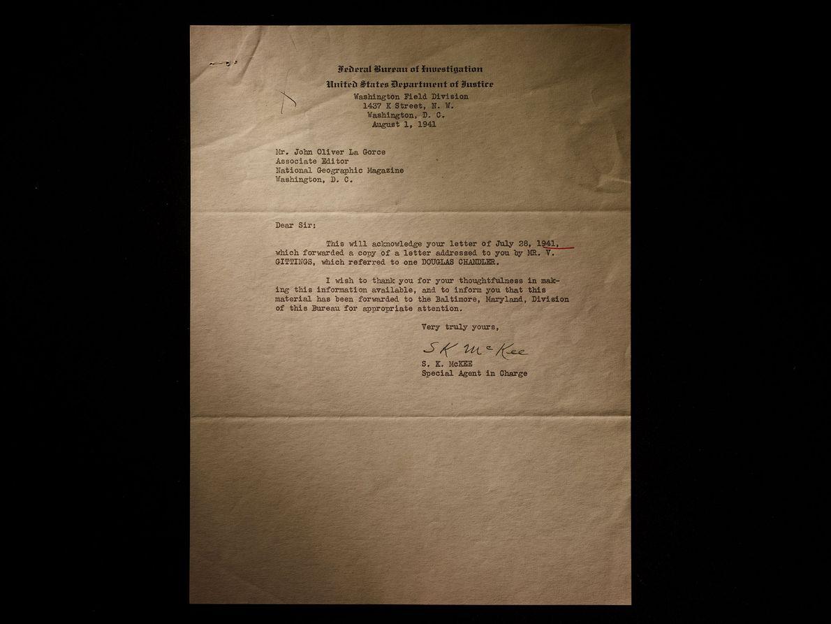 Douglas Chandler Nazi National Geographic
