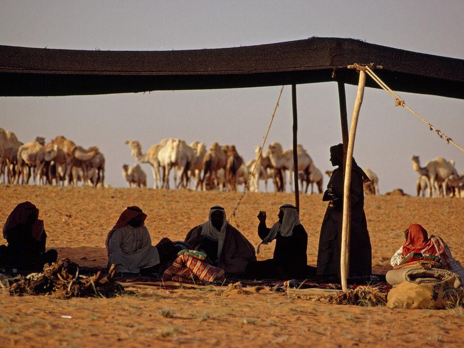 Imagens de povos nómadas dos arquivos da National Geographic