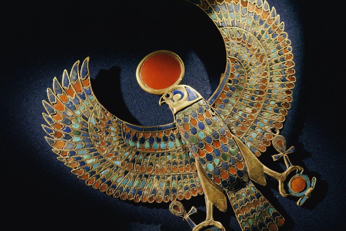 Falcão encontrado no Túmulo do Faraó egípcio Tutancámon