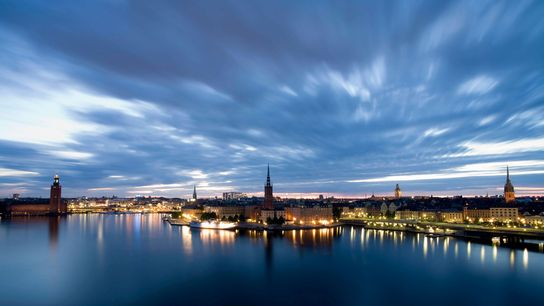 Pôr do sol na Suécia