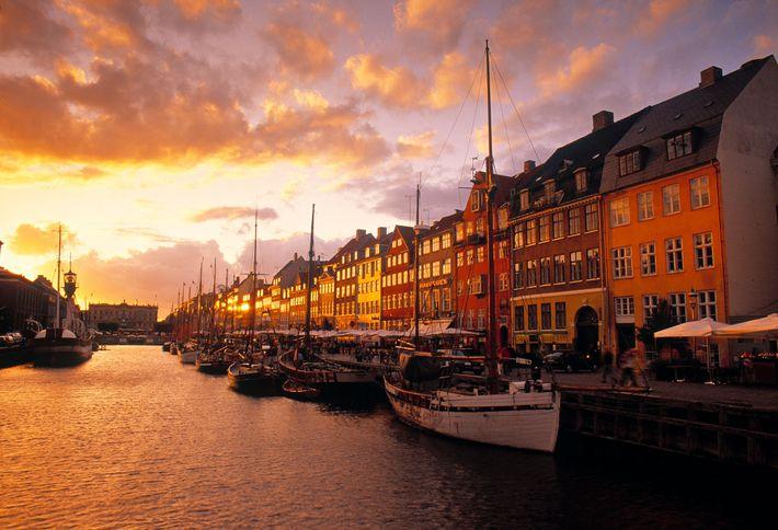 Porto de Nyhavn em Copenhaga