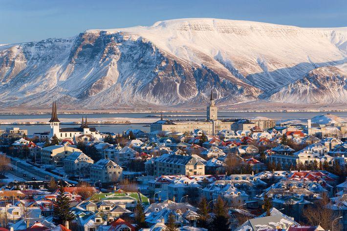 Cidade de Reiquiavique, na Islândia