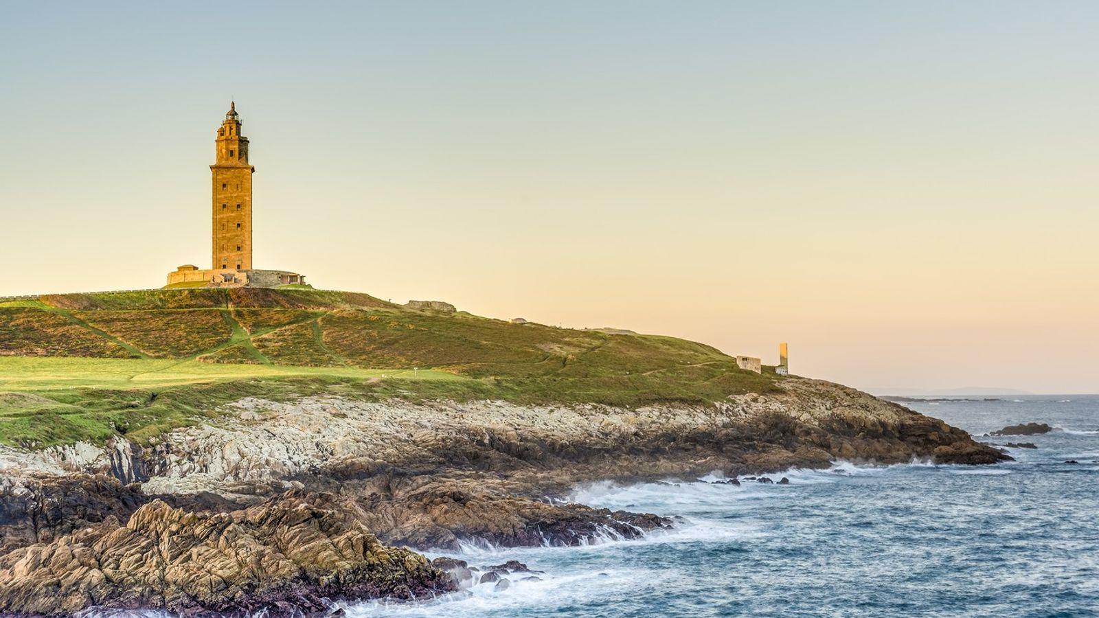 Imagem da costa da Corunha