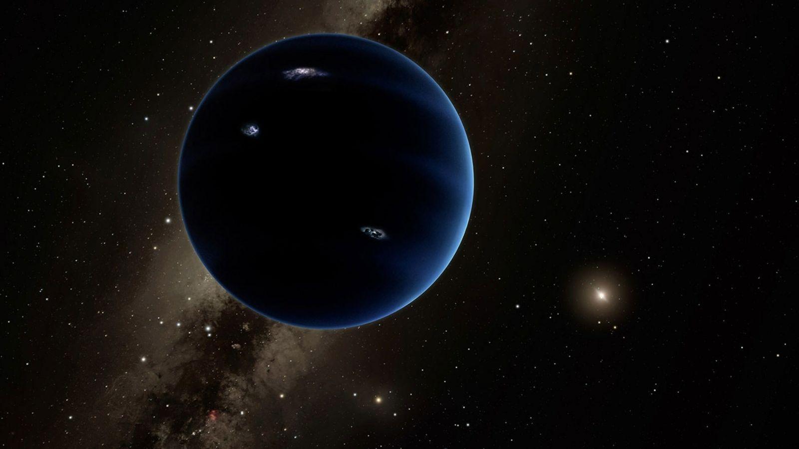 Alguns astrónomos acreditam que um planeta desconhecido, com cerca de seis vezes a massa da Terra, ...