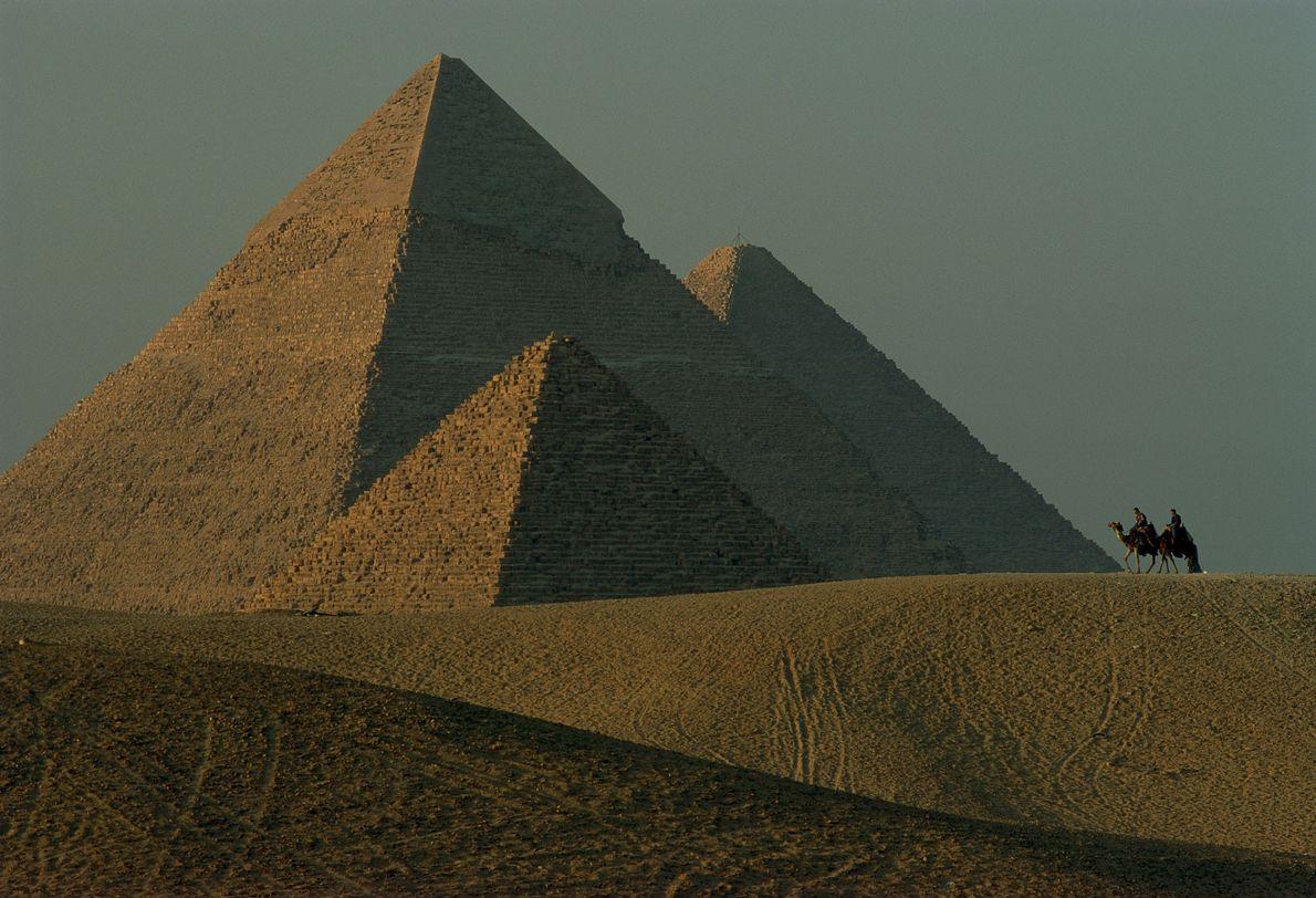 Vista das pirâmides de Gizé