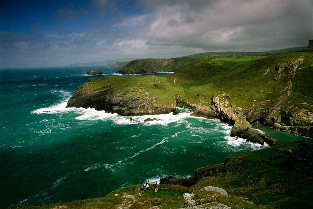 Costa Cornwall Nuvens e Sol