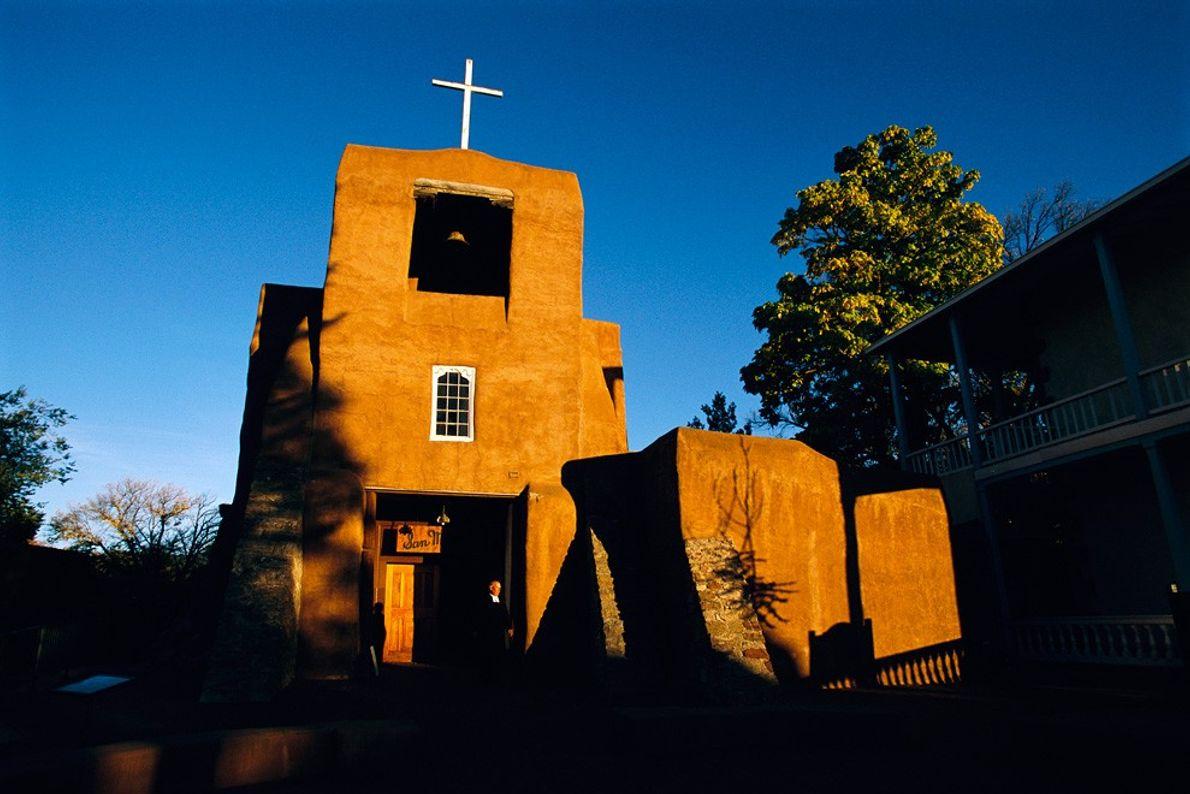 Missão de São Miguel, Santa Fé Manhã Cedo ou Fim da Tarde