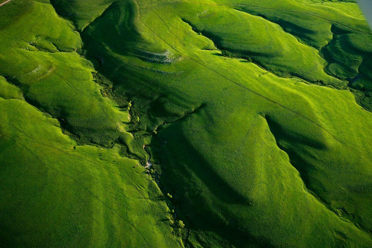 Os vales serpenteantes de Texaco Hill