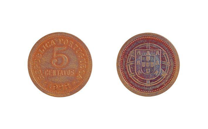 Moeda de 5 centavos 1922