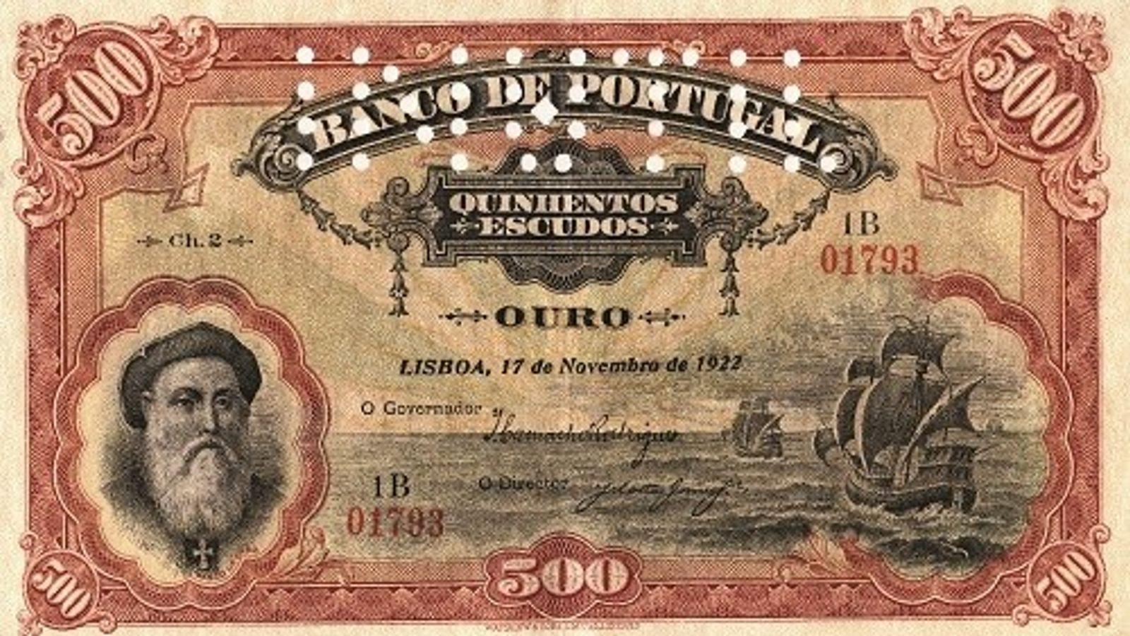 nota de 500 escudos
