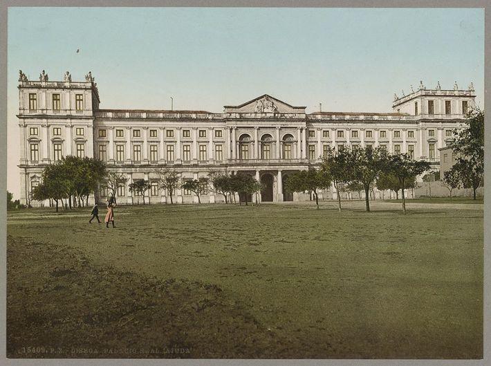 Palácio Real, Ajuda, Lisboa (1890).