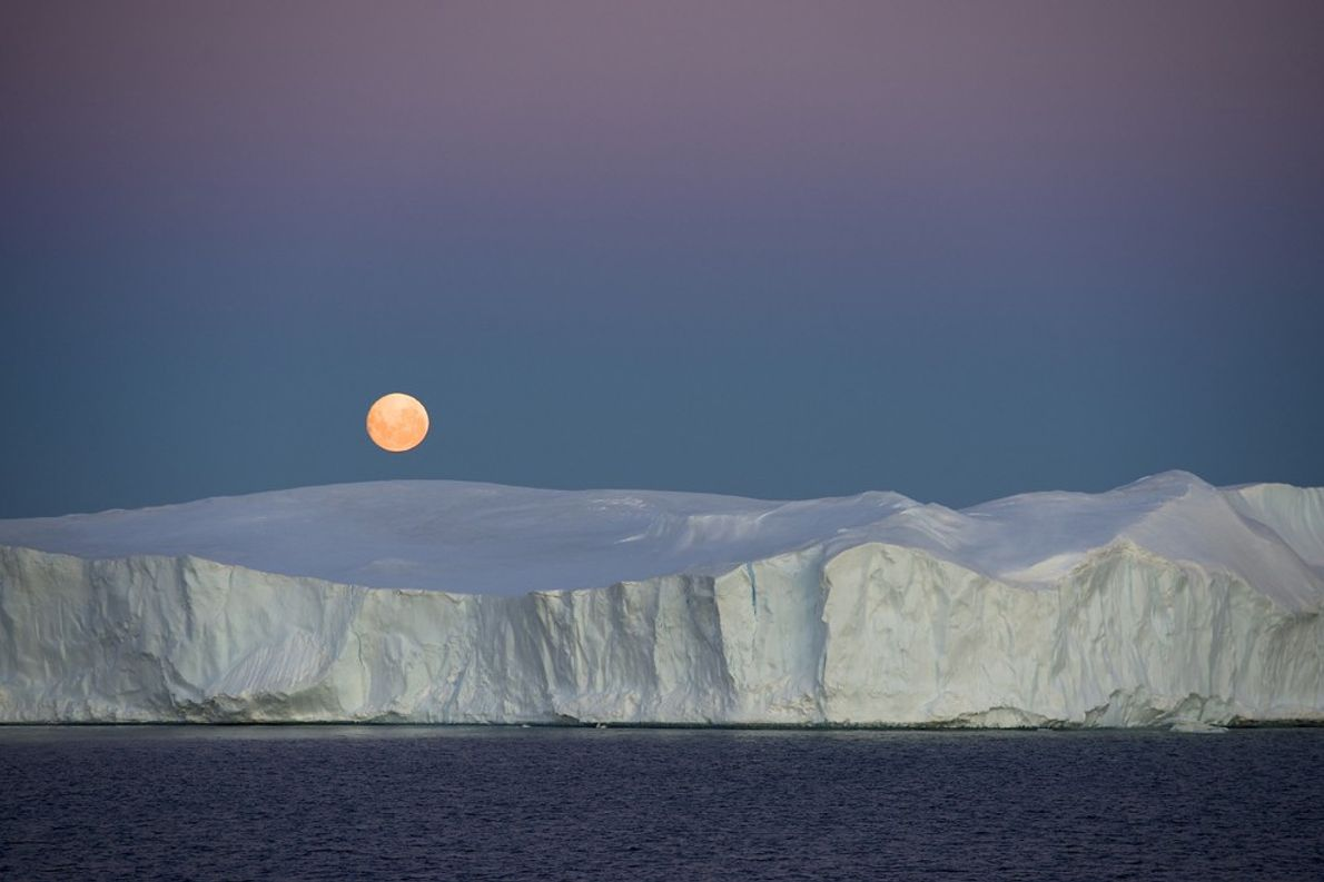 Nascer da Lua, Antártida
