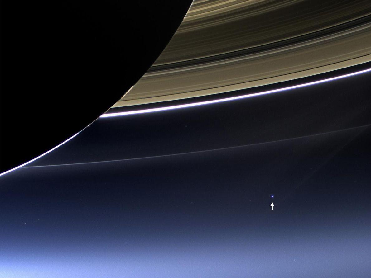 Imagem da Terra tirada a partir de Saturno pela Cassini