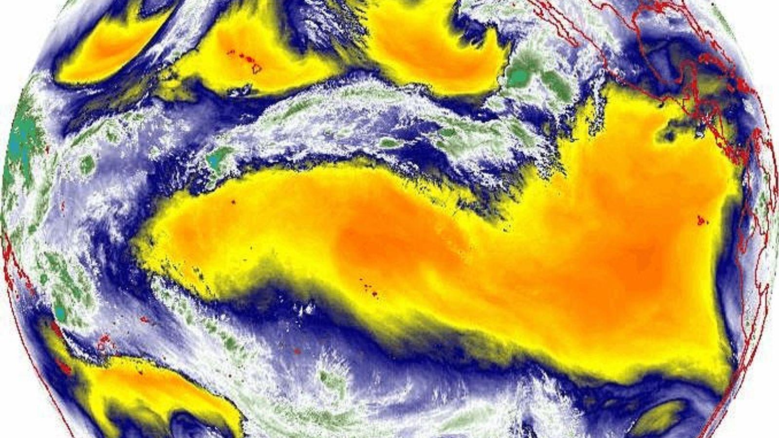 Os satélites têm instrumentos que medem a quantidade de vapor de água na atmosfera – informações ...