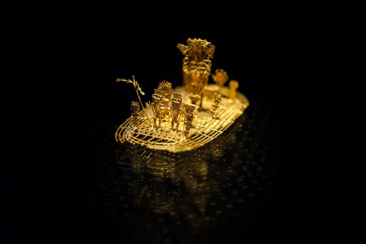 Jangada de Muisca encontrada com outros artefactos de ouro