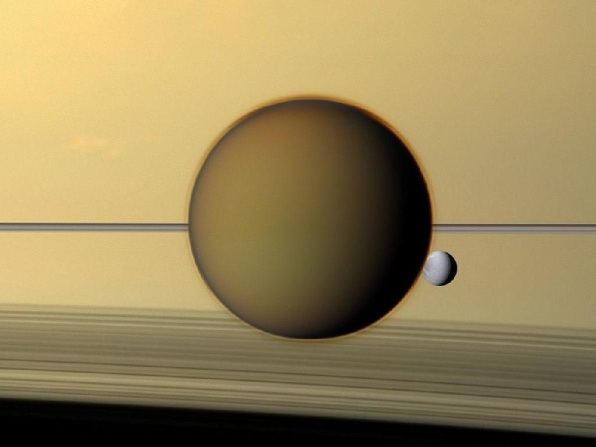 Titã - Nebuloso e alaranjado