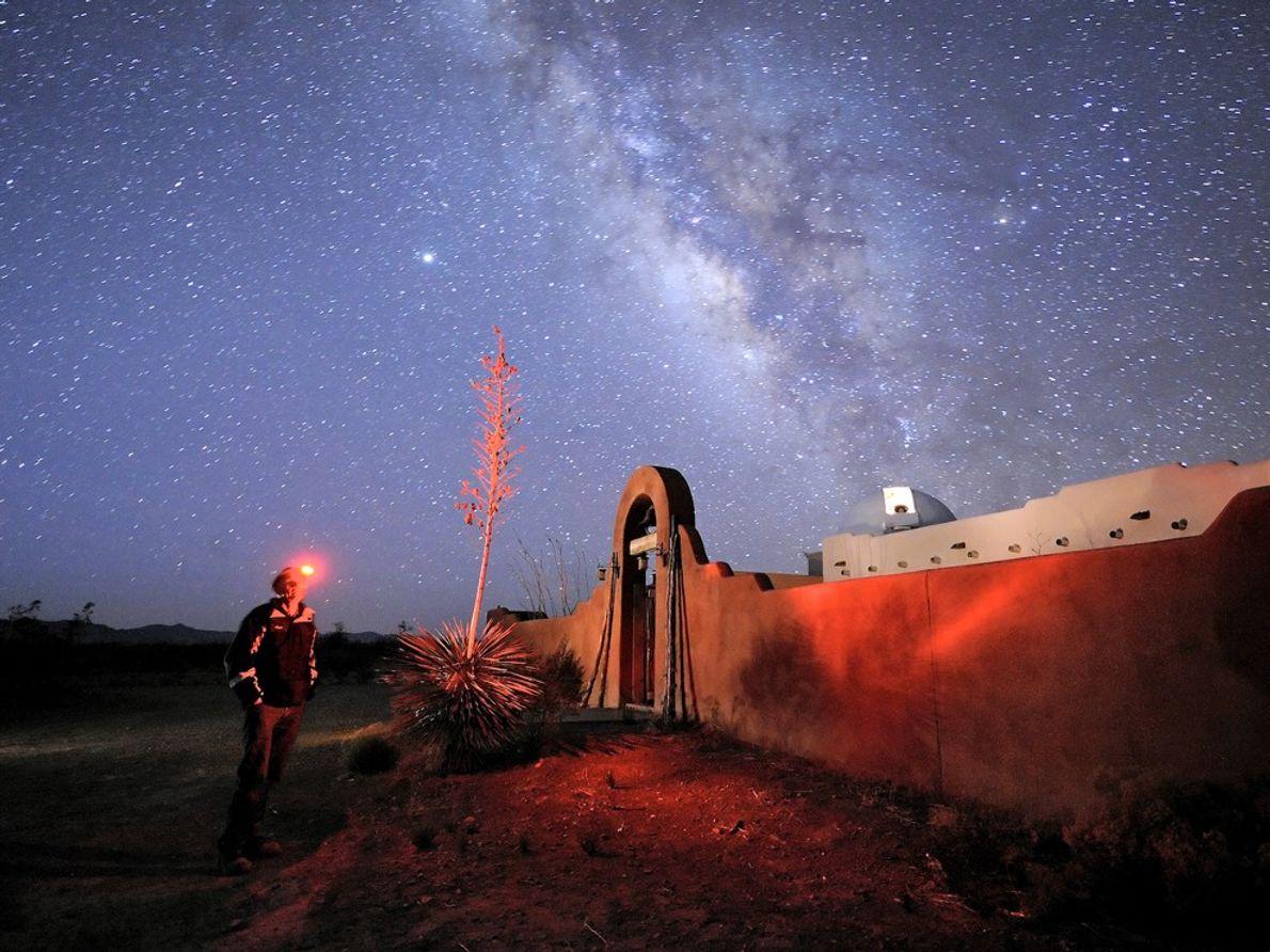 Arizona Sky Villages, Arizona Trabalhe os Equilibrios de Brancos para Ter Uma Boa Cor no Céu