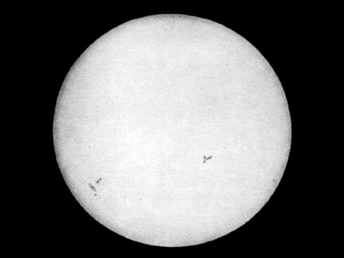 A Primeira Fotografia do Sol