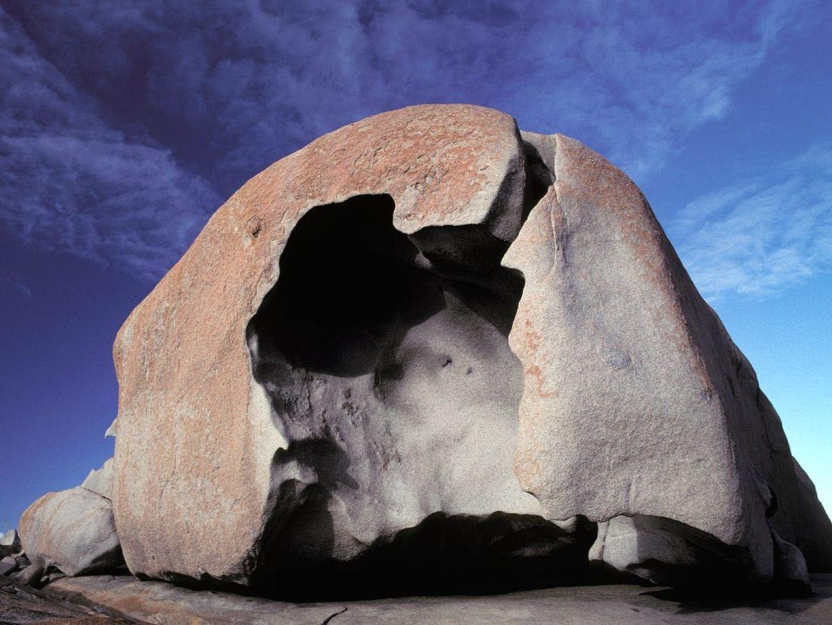 Remarkable Rocks na ilha Kangaroo, a sul da Austrália