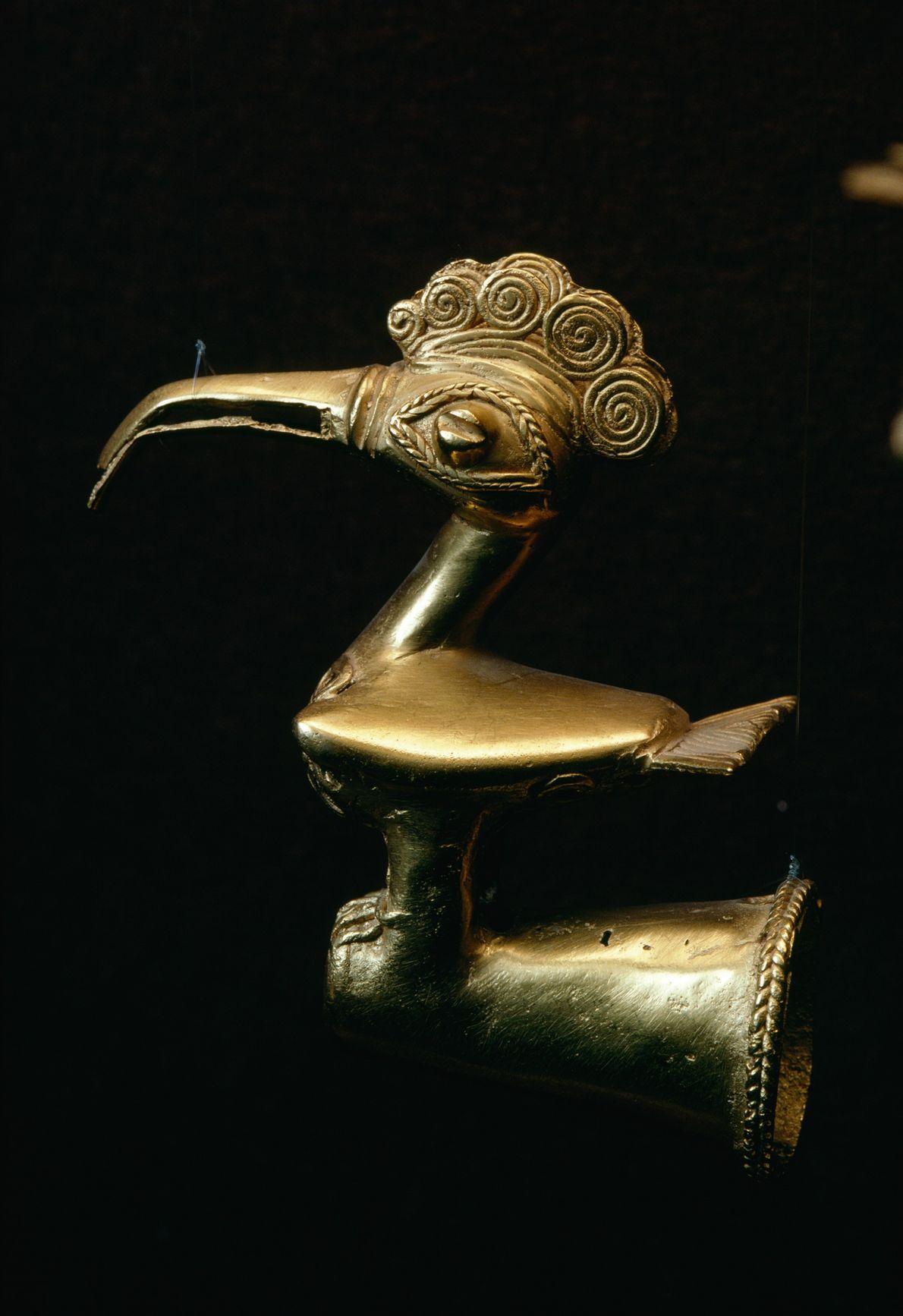 Pássaro dourado pertencente à cultura Sinu