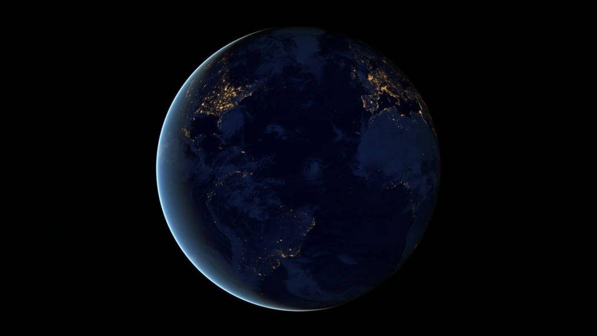 Imagem Terra, satélite Suomi NPP da NASA