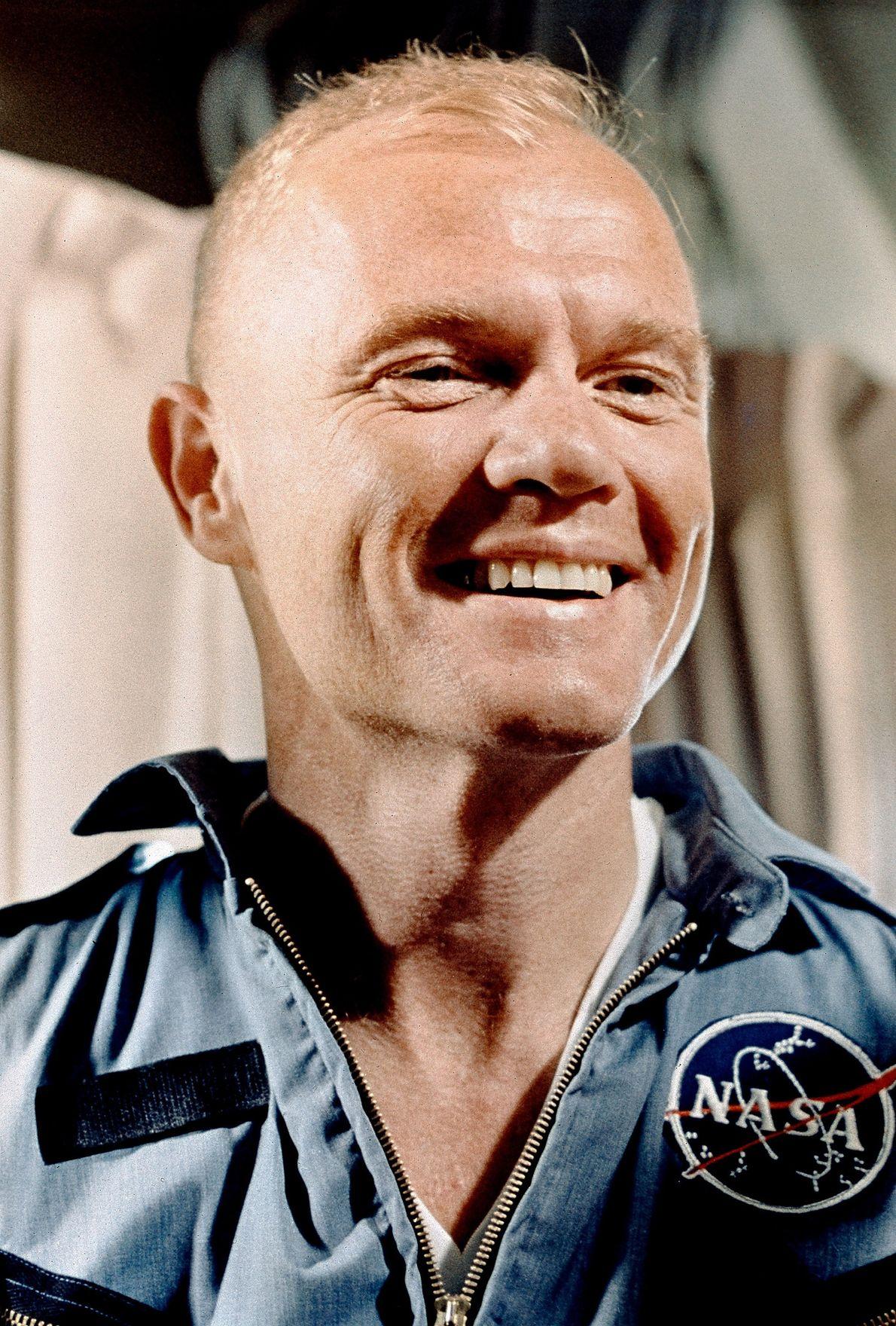 John Glenn em 1960. Em 1962, quando fez o seu primeiro voo orbital, Glenn tinha 40 ...