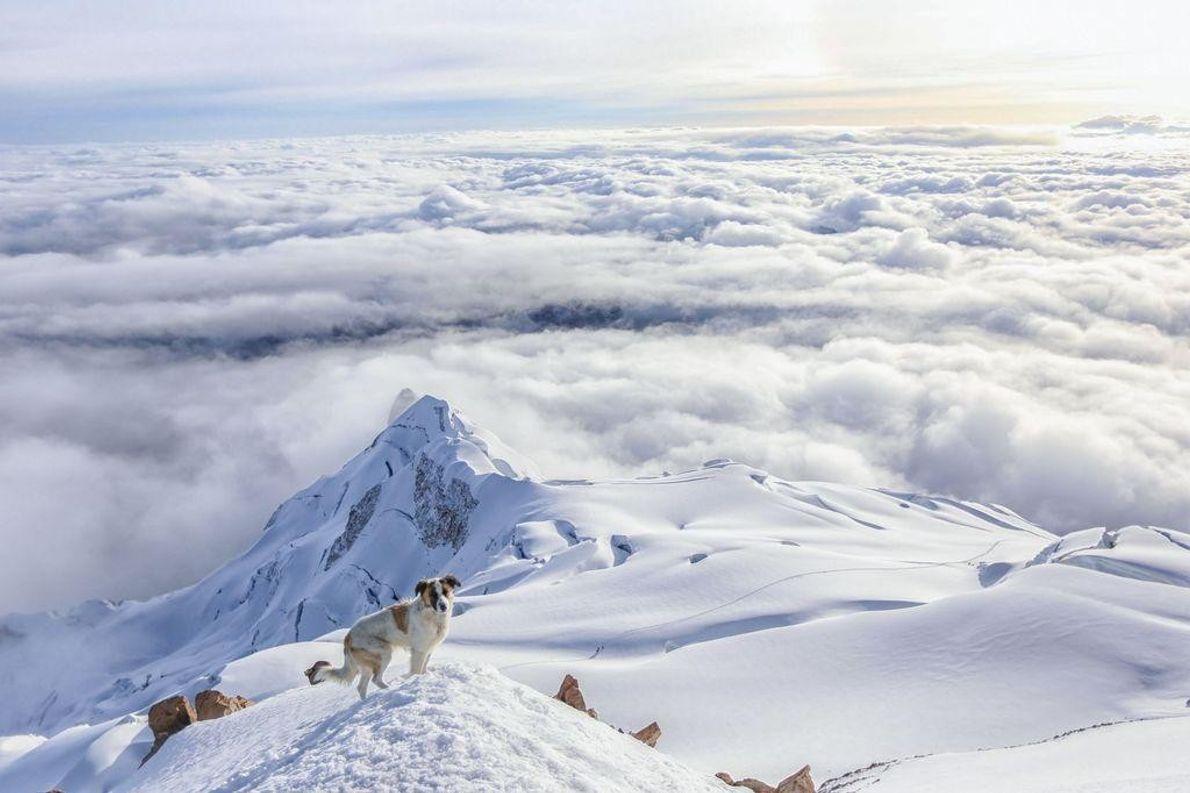 Montanha Huayna Potosí na Bolívia