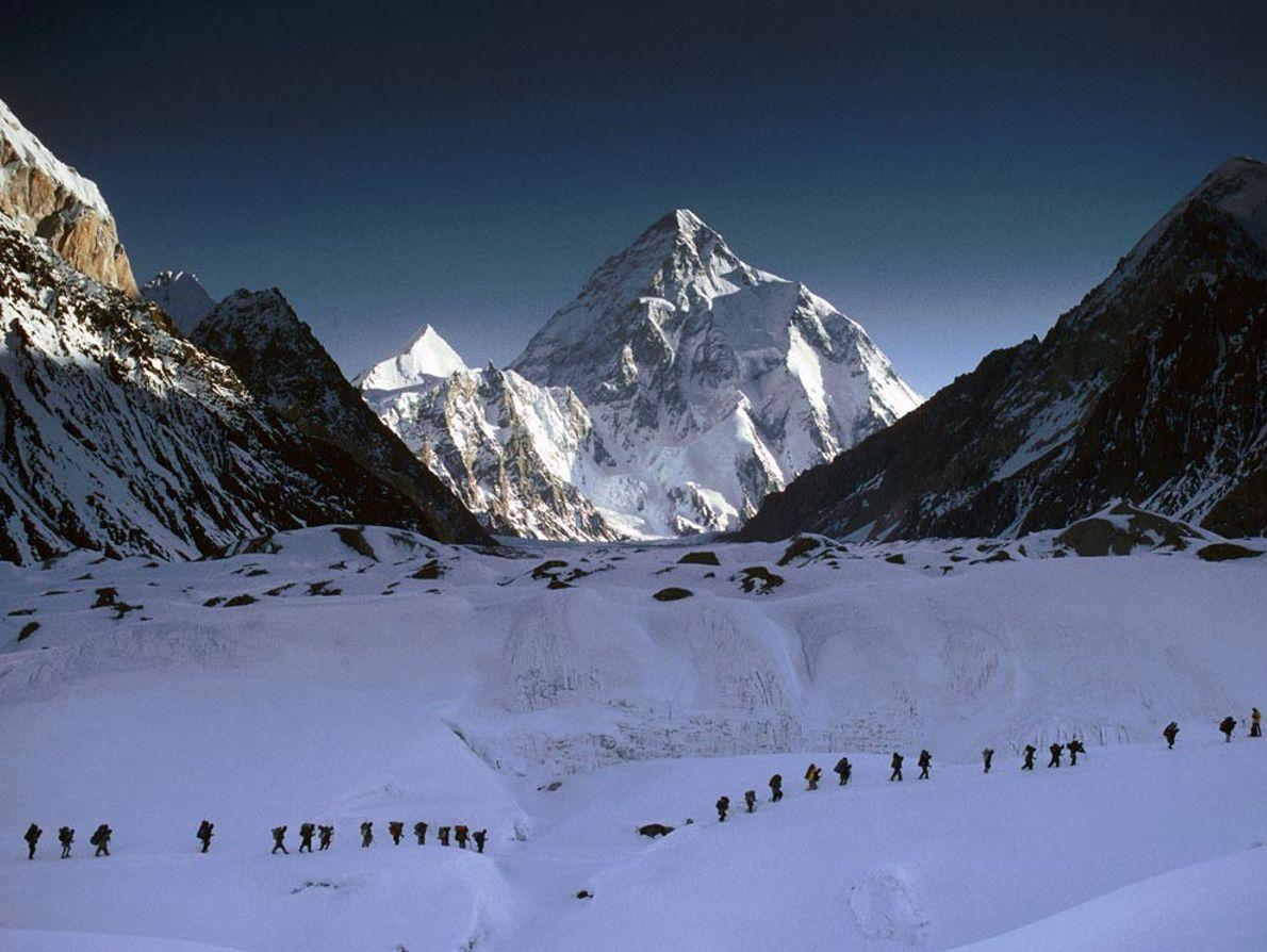 Alpinistas no K2