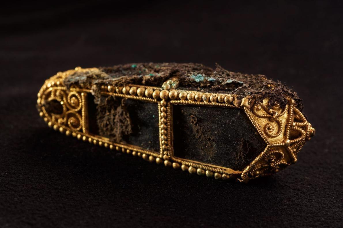 Pendente em ouro parte do Tesouro de Dumfriesshire