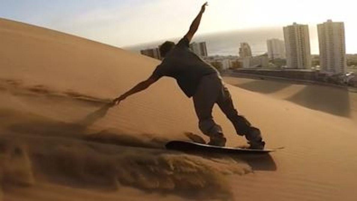 Montanha do Dragão de Sandboard