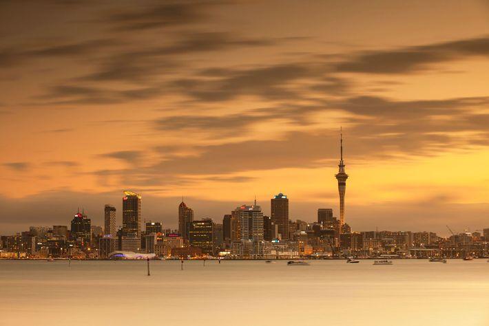 Panorâmica da cidade de Auckland, na Nova Zelândia