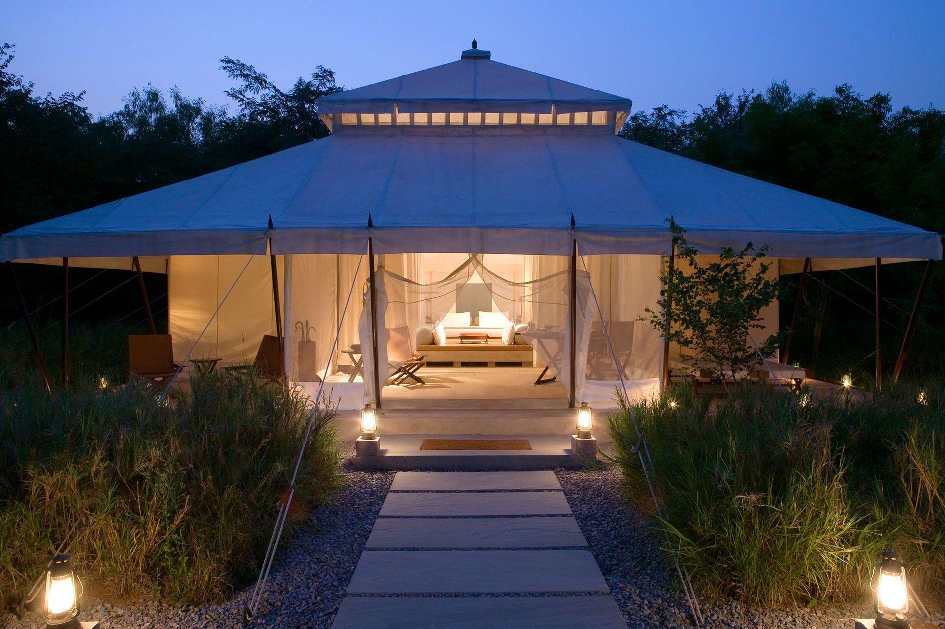 Resort Aman-i-Khás, na Índia, fica dentro do Parque Nacional Ranthambore