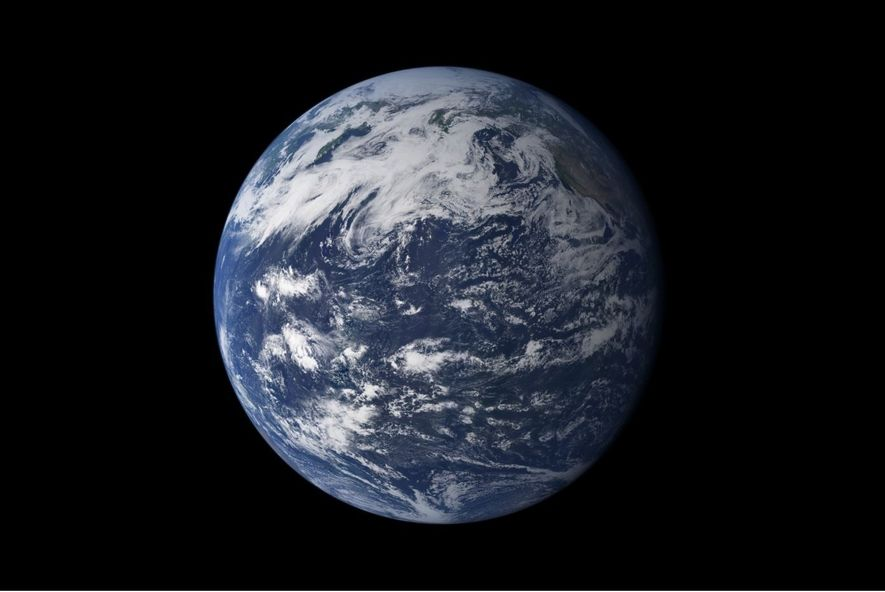 Vista do espaço, a característica mais impactante do nosso planeta é a água. Sob a forma ...