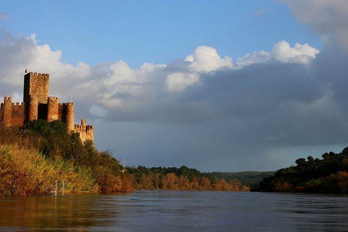 Castelo de Almourol no Inverno.
