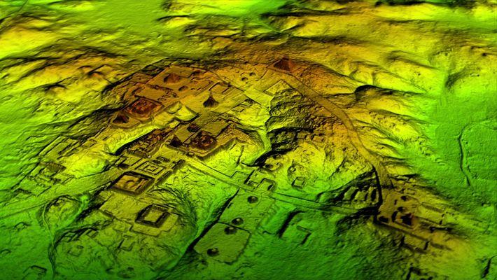Deteção Laser Descobre Megacidade Maia