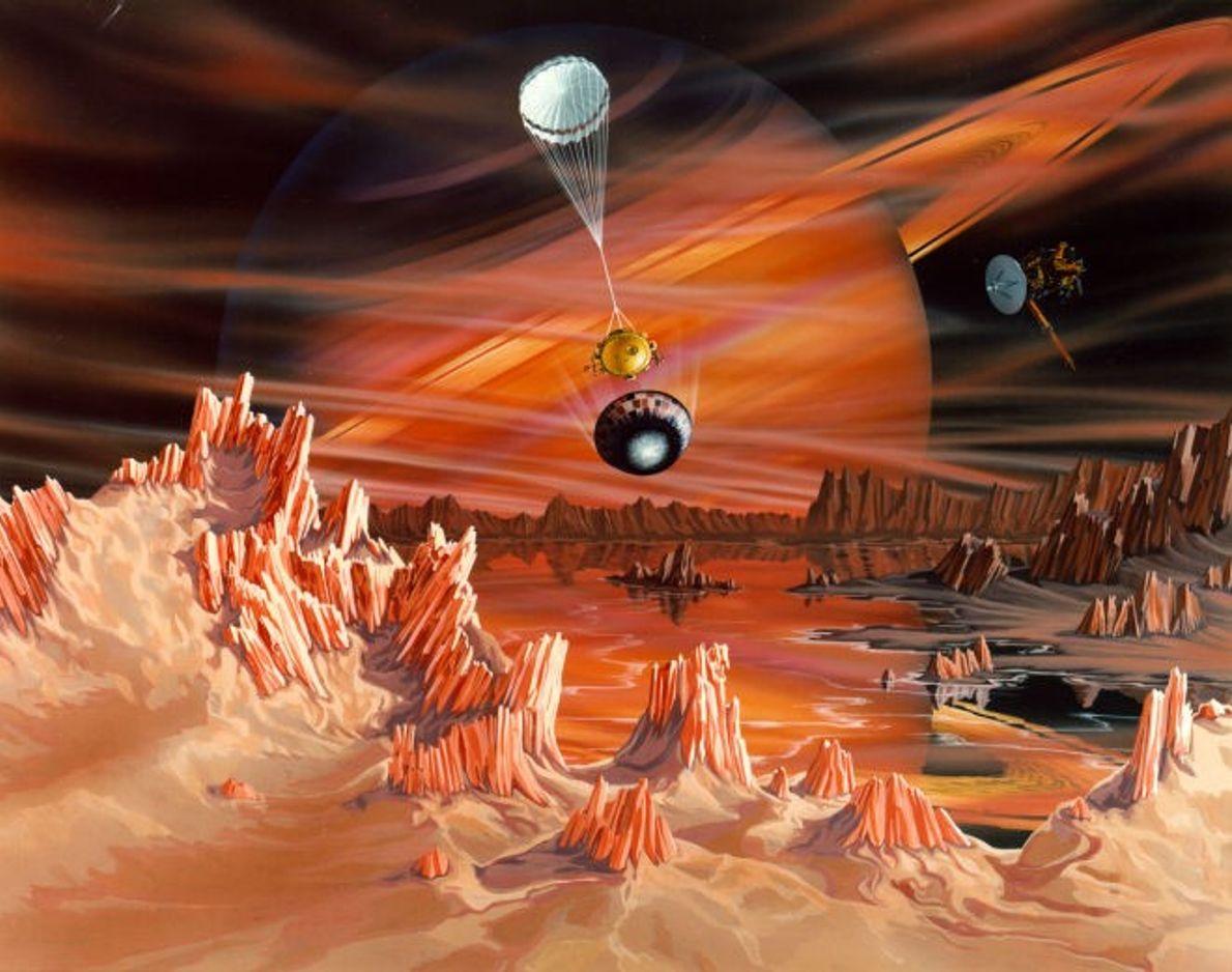 Concepção de Titã feita por um artista