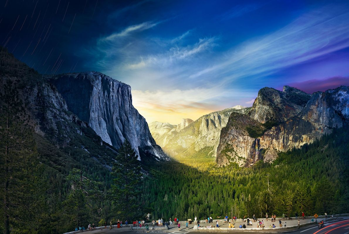 Tunnel View, Parque Nacional de Yosemite.