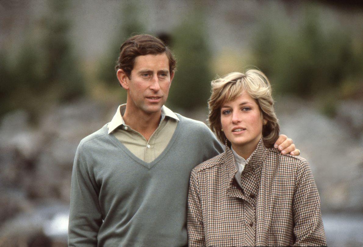 A Princesa Diana e o Príncipe Carlos