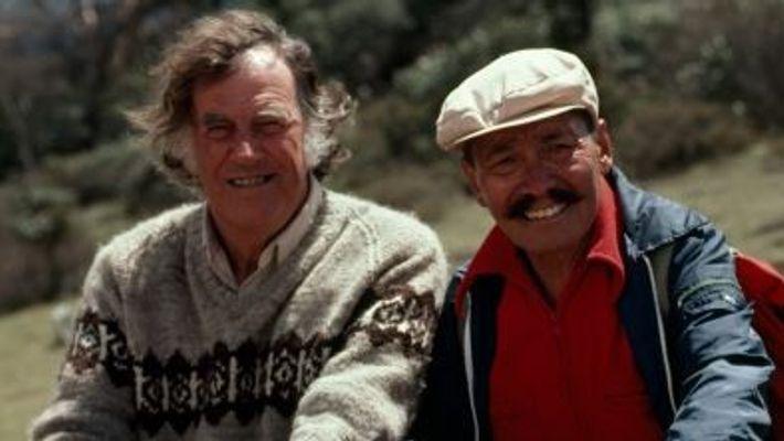 EDMUND HILLARY e TENZING NORGAY. Os primeiros alpinistas a conquistar o Monte Everest