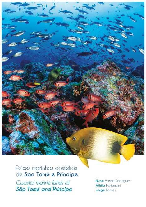 Capa do livro Peixes marinhos costeiros de São Tomé e Príncipe.