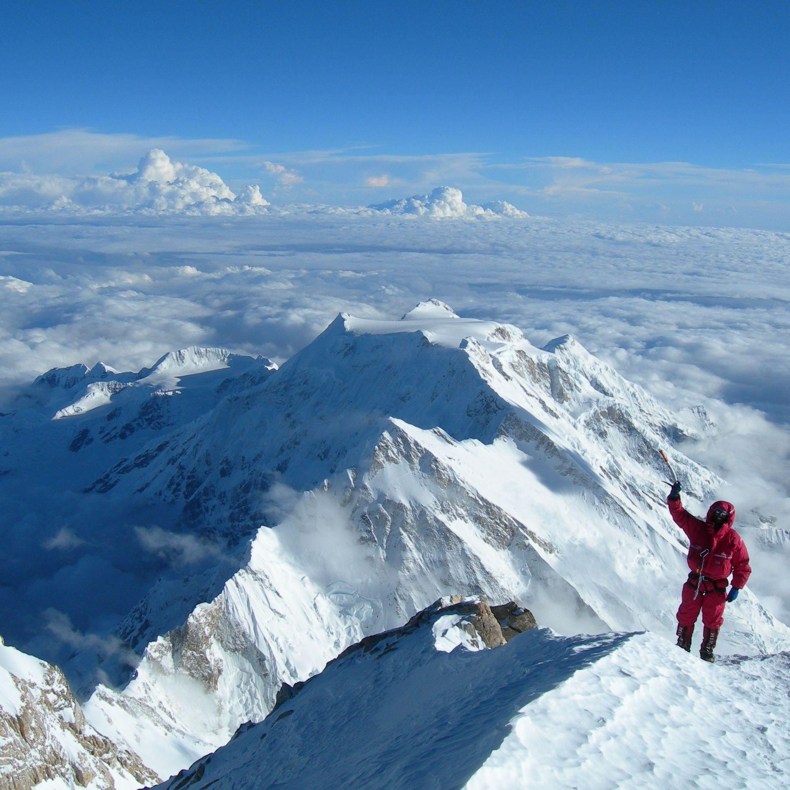 Chegada ao cume Kangchenjunga em 2006