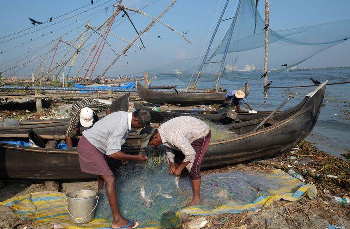 Pescadores em Kochi