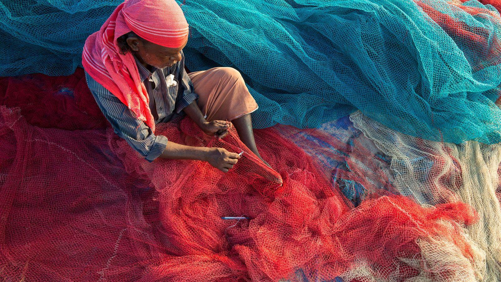 Pescador de Kerala, na Índia