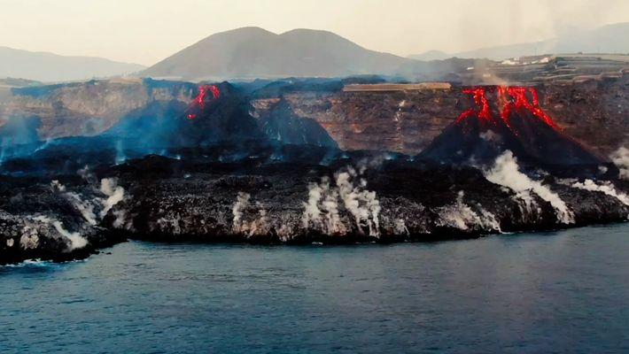 A fajã de lava em La Palma